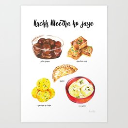 Kuchh Meetha ho jade (let's have some sweets!!) Art Print