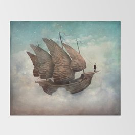 Flying Merchant Throw Blanket