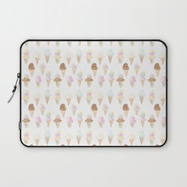 Watercolor Ice Cream Cones Laptop Sleeve