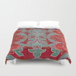 Boujee Boho Collection Deep Red Seal Duvet Cover
