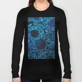 Blue Batik 09 Long Sleeve T-shirt