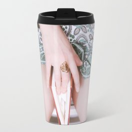 """A secret freedom opens through a crevice you can barely see."" Travel Mug"
