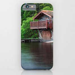 Smooth as Glass Lake and Boathouse iPhone Case