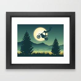 Moon Rider Framed Art Print