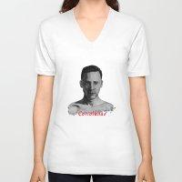 tom hiddleston V-neck T-shirts featuring Tom Hiddleston as Coriolanus by OnaVonVerdoux