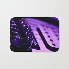 Guitar in Purple fine art photography Bath Mat