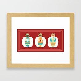 Peace Love & Joy Framed Art Print