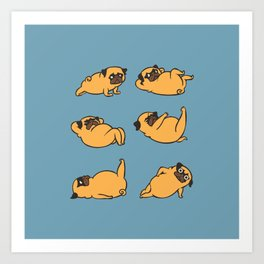 Total Pug Abs Workout Art Print