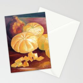 Composition with pumpkins Stationery Cards