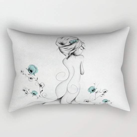 Poppy Poem Rectangular Pillow
