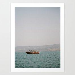 Sailing on the Sea of Galilee - Holy Land Fine Art Film Photography Art Print