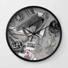 "Tom Waits ""Take It With Me"" Poster Wall Clock"