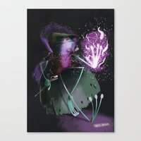 wizard Canvas Prints featuring Wizard by David Pavon