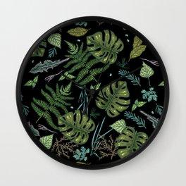 Green summer jungle Wall Clock