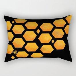 Bee in a Honeycomb Rectangular Pillow