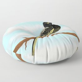 The Regent Honeyeater - Australian Precious Bird Floor Pillow