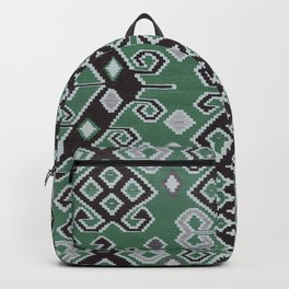 Vintage Kilim Rug | Ethnic Style Green Backpack