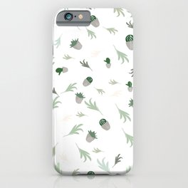 Cactus-vibes, green, white, pattern, cacti-leaves, cactus, tropical, desert, decor buyart,  society6 iPhone Case