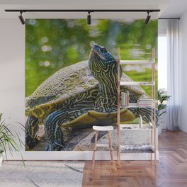 Turtle is the New Leopard Print Wall Mural