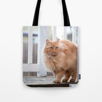 garfield Tote Bags featuring Garfield by maisie ong