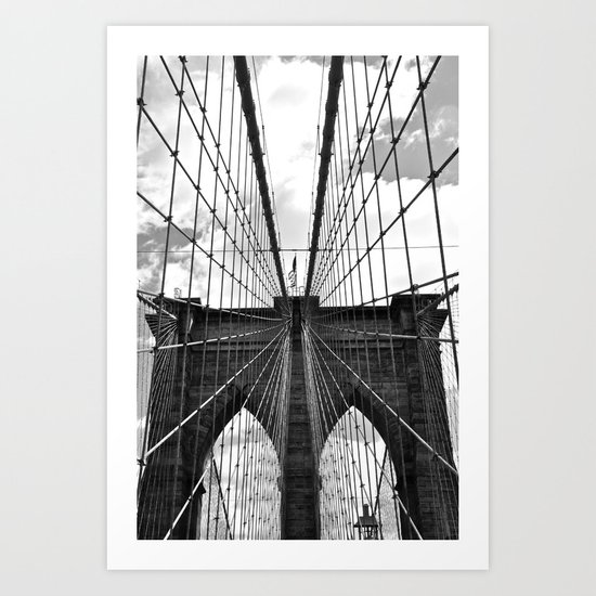 Brooklyn Bridge Old School Art Print