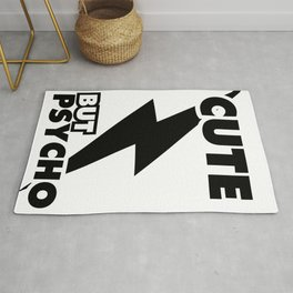 Cute But Psycho (white version) Rug