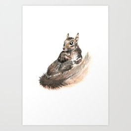 Draw me like one of your French squirrels Art Print