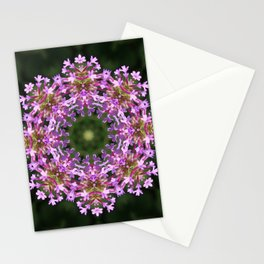 Constellation of Verbena flowers mandala Verbena bonariensis 1829 k2 Stationery Cards