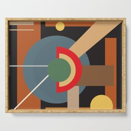 Abstract geometric composition study- clocks Serving Tray