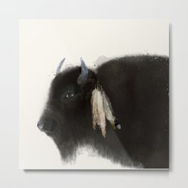 native buffalo Metal Print