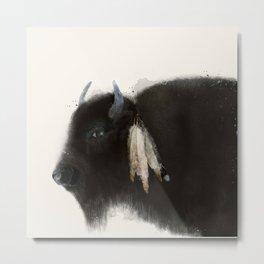 native buffalo Metal Print