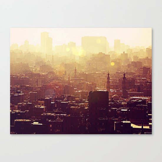 Sunset over Cairo Canvas Print
