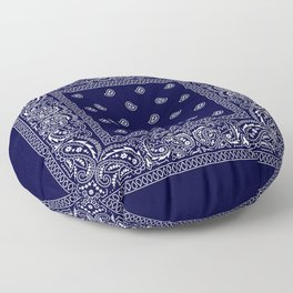 Bandana - Navy Blue - Southwestern Floor Pillow