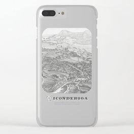 Ticonderoga Map 1884 Clear iPhone Case