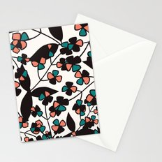 Tangled spring branches and flowers Stationery Cards