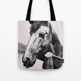 Horse Greeting A Stranger Tote Bag