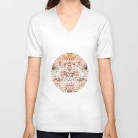 minerals V-neck T-shirts featuring Mystic Minerals 2 by Caroline Sansone