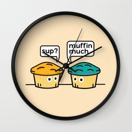 Two Muffins Wall Clock