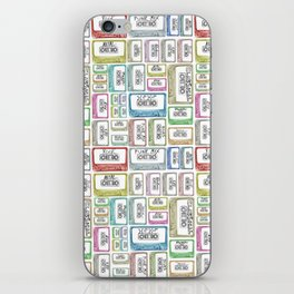 Tape Mix 2 Vintage Cassette Music Collection iPhone Skin