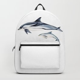 Striped dolphin Backpack