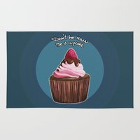 cupcake Area & Throw Rugs featuring Cupcake by Kaweii