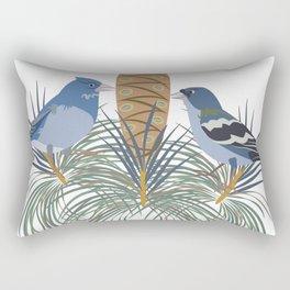 Blue Chaffinch Rectangular Pillow