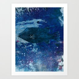 Cosmic fish, ocean, sea, under the water Art Print