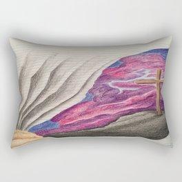 3D Paper Torn Cross Rectangular Pillow