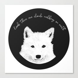 Samoyed painting Canvas Print