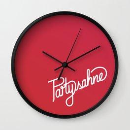 Partysahne    [gradient] Wall Clock
