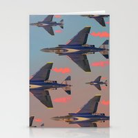 planes Stationery Cards featuring planes planes planes by Sarah Brust