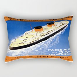 Vintage poster - French Cruise Line Rectangular Pillow