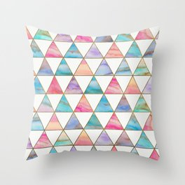 Marble Triangles Pattern Throw Pillow