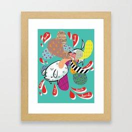 bark park Framed Art Print